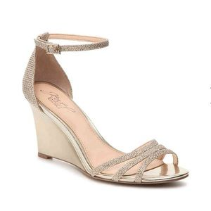 Jewel Badgley Mischka fancy pump/wedges.